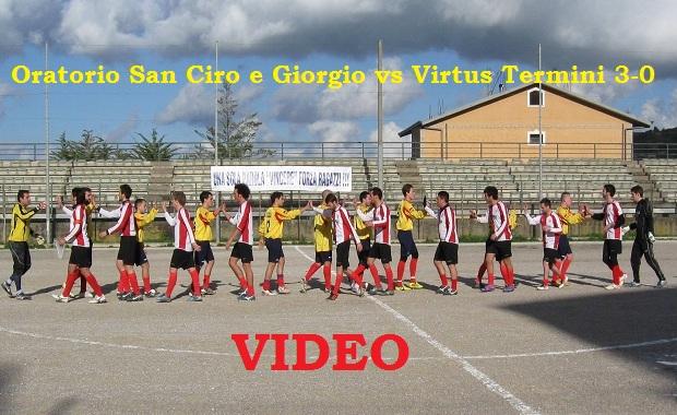 oratorio san ciro e giorgio vs virtus termini 3 0