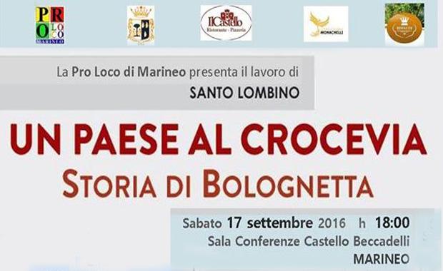 """Marineo, al Castello si presenta """"Un paese al crocevia. Storia di Bolognetta"""""""